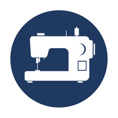 sewing machine isolated icon design, vector illustration  graphic