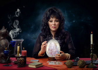 Portrait of stunning crystal gazer