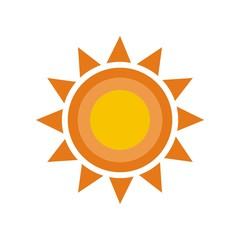 Natural sun logo vector