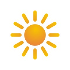 Natural sun logo vector