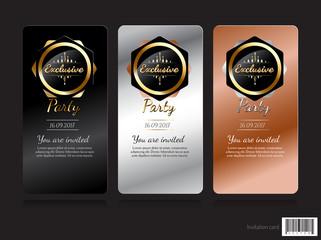 Invitation card exclusive concept design