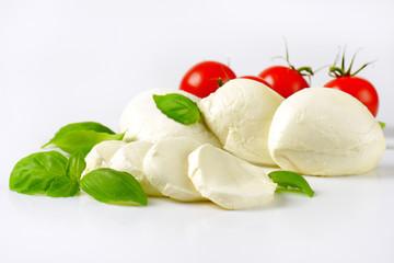 mozzarella, tomatoes and basil
