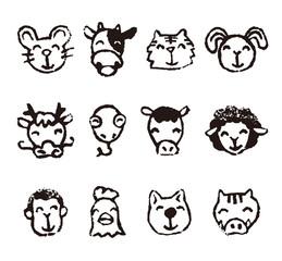 十二支 干支動物イラスト