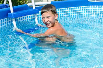 teen in swimming pool