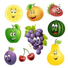 cartoon fruit expression