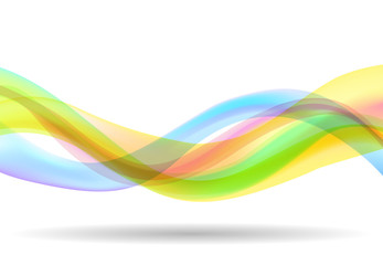 abstract wave background rainbow