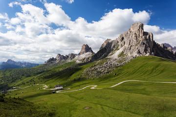 Passo Giau, Dolomites, Italy. Beautiful summer mountain landscap