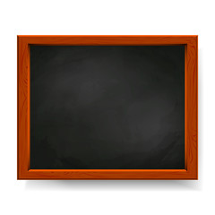 Black vector blackboard isolated on white