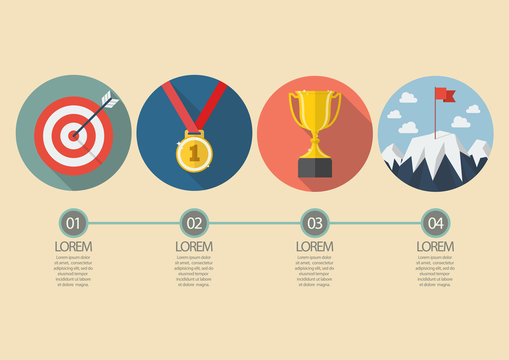 Sport winner concept infographic