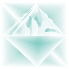 Iceberg abstraction stylized illustration art creative modern light vector background