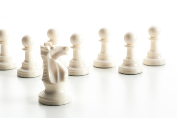 Chess figure isolated on the white background