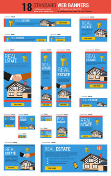 Standard size web banners - Real Estate