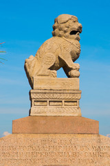 Sculpture mythical creatures. Saint Petersburg