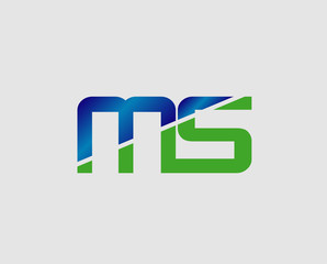 MS company group linked letter logo