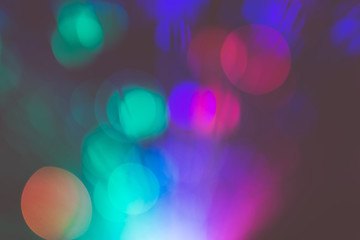 Colorful Bokeh Light Effect Filtered