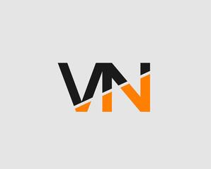 Letter V and N logo vector
