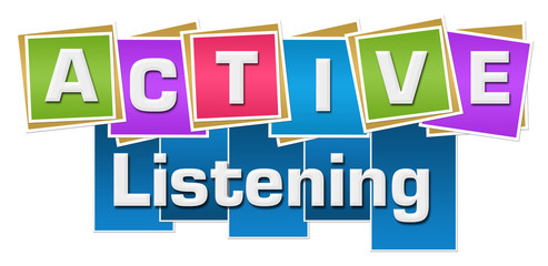 Active Listening Colorful Squares Stripes