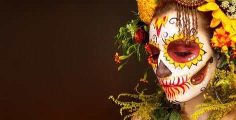 Фейс арт к Хеллоуину.