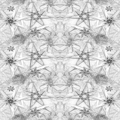 Sacred geometric abstract seamless background pattern.