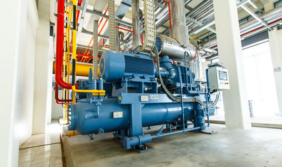 industrial compressor refrigeration station at manufacturing factory Wall mural