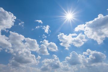 bright sunny sky background