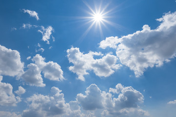 summer sunny sky background