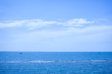 Seascape. Blue sky with Calm sea.
