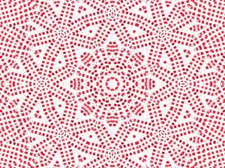 Red concentric pattern