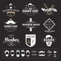 vintage barber shop logo