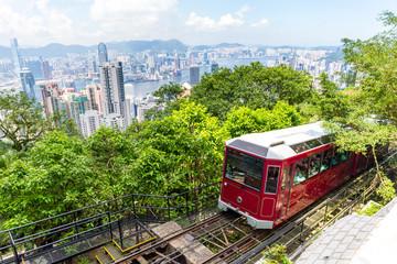 Wall Mural - The peak tram in Hong Kong