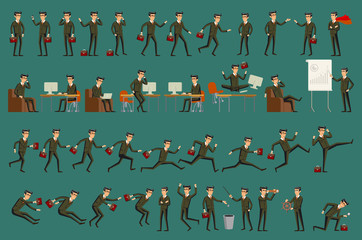 Business man isolated vector set male peple