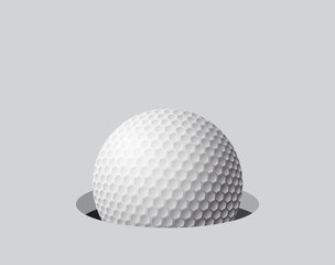golf ball in hole symbol icon design.