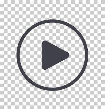 Play button icon, Vector