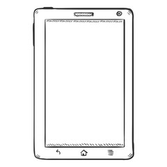 Vector Single Sketch Tablet PC. Front View.
