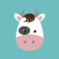 cute cow animal farm isolated icon design, vector illustration  graphic
