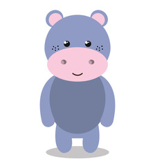 cute hippo isolated icon design, vector illustration  graphic