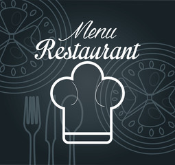 menu restaurant isolated icon design, vector illustration  graphic