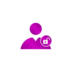 User icon, lock
