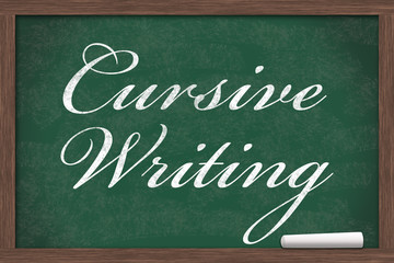 Learning Cursive Writing