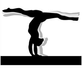 Artistic gymnastics Woman silhouette