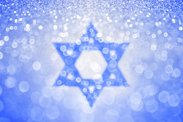Abstract blue background for Israel Independence Day, Jewish Hanukkah and Bar Mitzvah