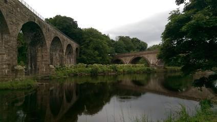 2 Stone bridges over a river