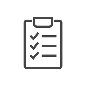 Check List isolated flat linear icon