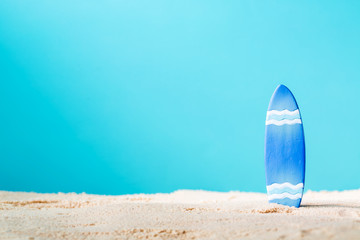 Summer theme with surfboard