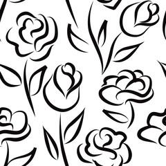 Floral seamless pattern. Flower background. Floral tiled ornament