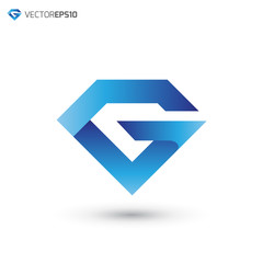 Abstract Diamond Overlap Letter G Logo