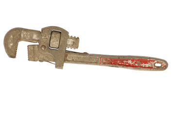 Vintage used pipe wrench.
