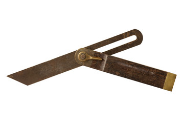 Antique carpenters bevel square.