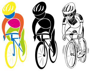 Sport icons for cycling