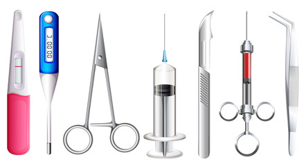 Different kinds of medical equipment